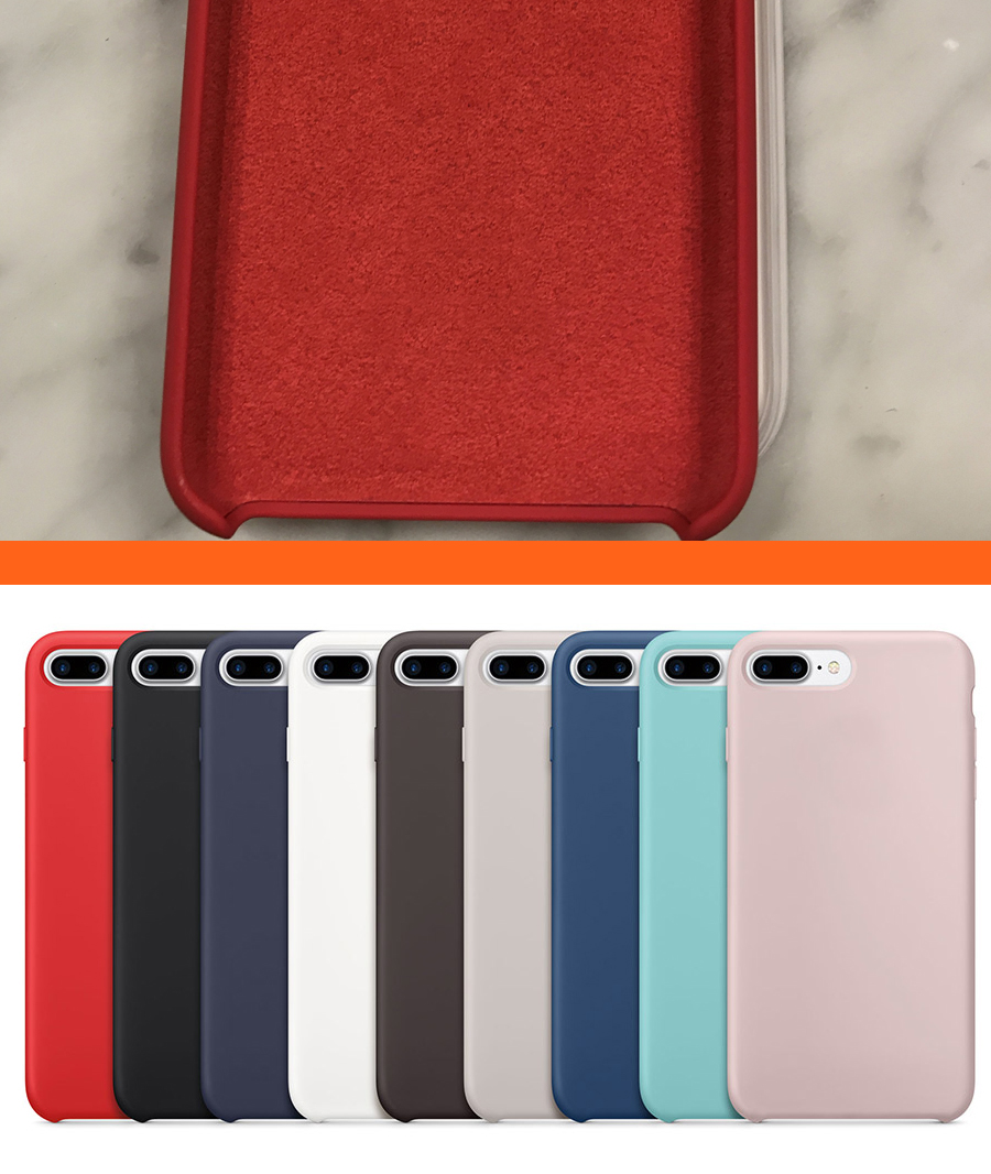 silikon case f r original iphone 7 plus handyh lle schutz. Black Bedroom Furniture Sets. Home Design Ideas